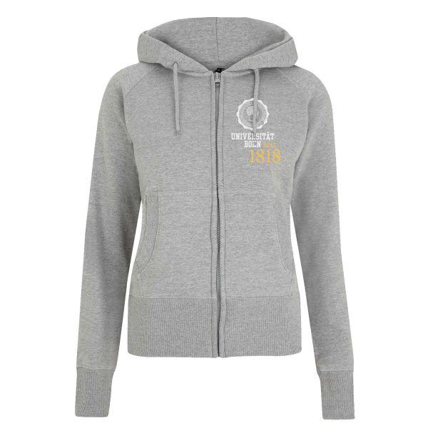 Damen Hooded Jacket, heather grey, eighteen