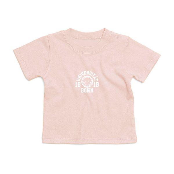 Baby T-Shirt, powder pink, smile