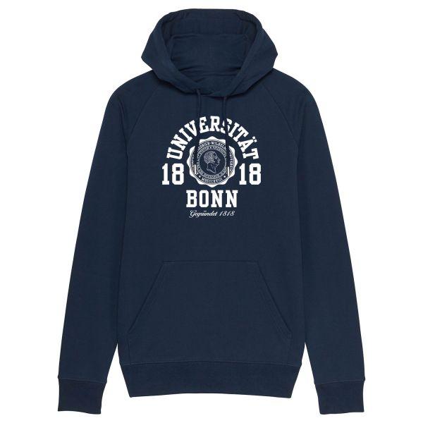 New Herren Organic Hooded Sweatshirt, navy, marshall
