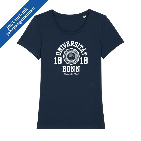 Damen Organic T-Shirt, navy, marshall