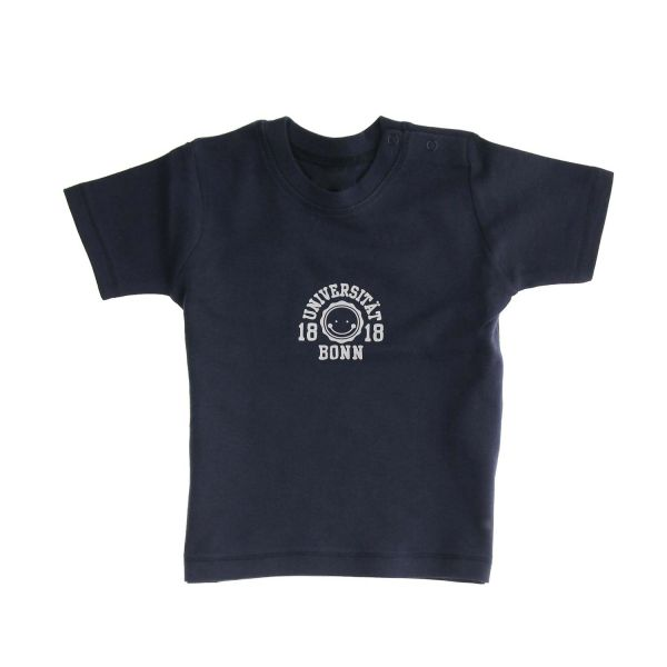 Baby T-Shirt, navy, smile