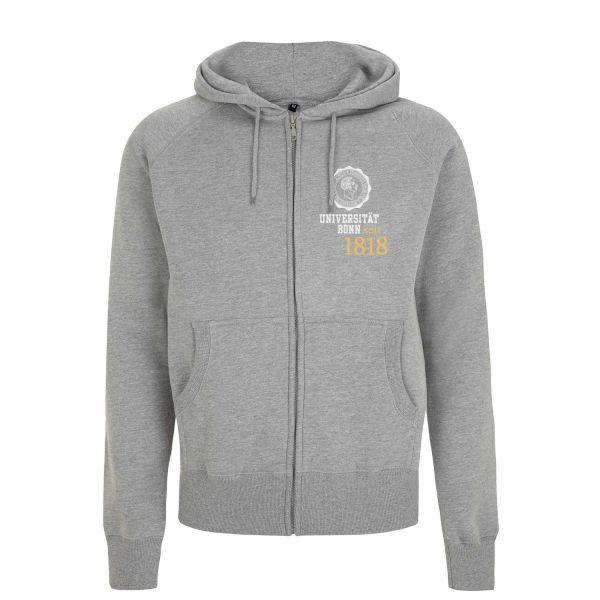 Herren Hooded Jacket, heather grey, eighteen
