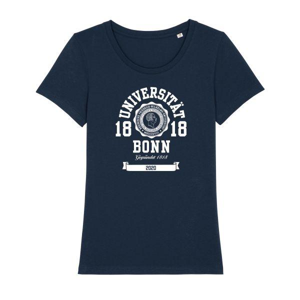 Damen Organic T-Shirt, navy, marshall 2020