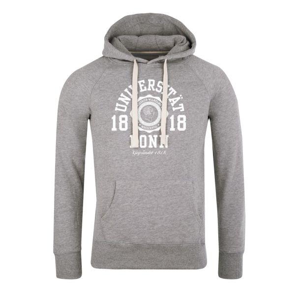 Herren Hooded Sweatshirt, heather grey, marshall