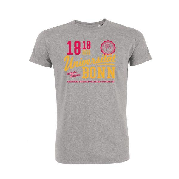 Herren Organic T-Shirt, heather grey, phoenix