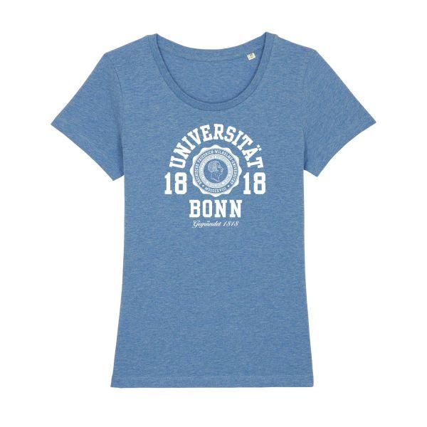 Damen Organic T-Shirt, heather blue, marshall