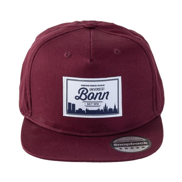 Cap, burgundy, Label