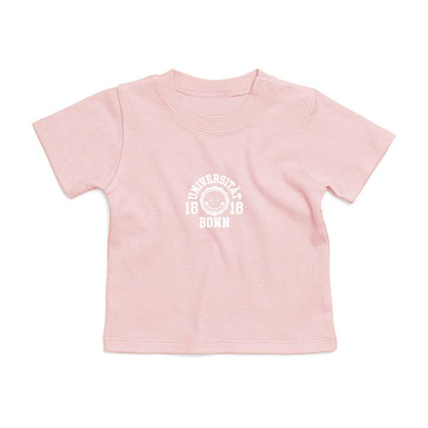 Baby T-Shirt, powder pink, smile