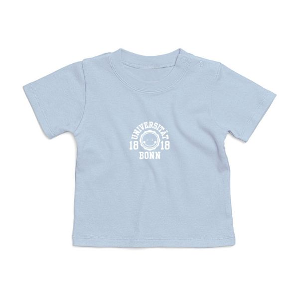 Baby T-Shirt, dusty blue, smile